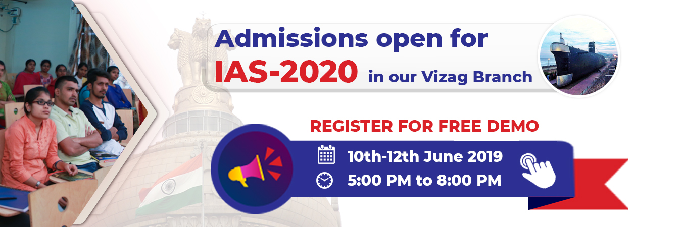 Admissions for IAS 2020 in Vizag Branch