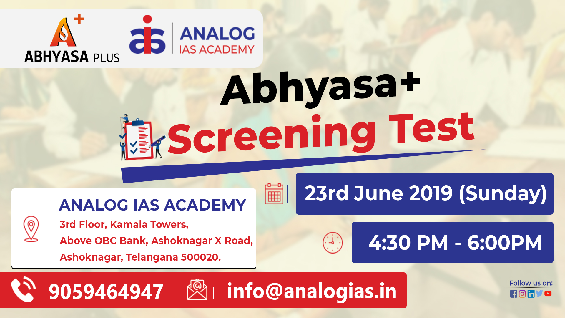 Abhyasa+ Screening Test for Civil Services Examination Mains Exam 2019