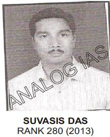 Analog IAS Top Ranker Suvasis Das