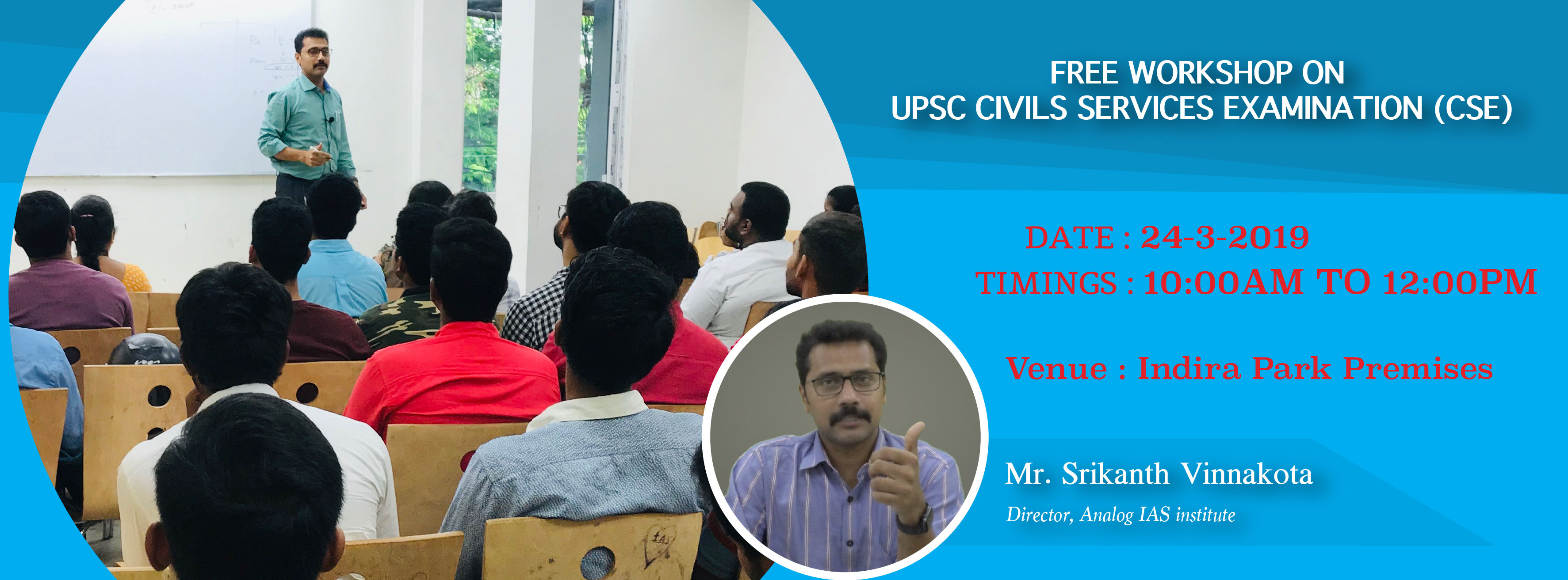 Free Workshop on UPSC